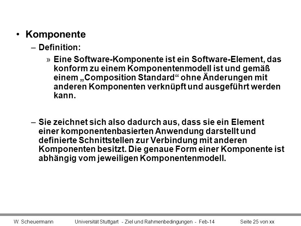 Komponente Definition: