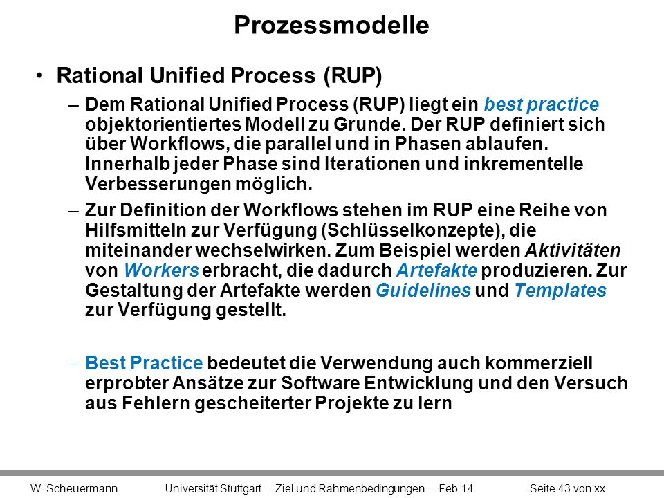 Prozessmodelle Rational Unified Process (RUP)
