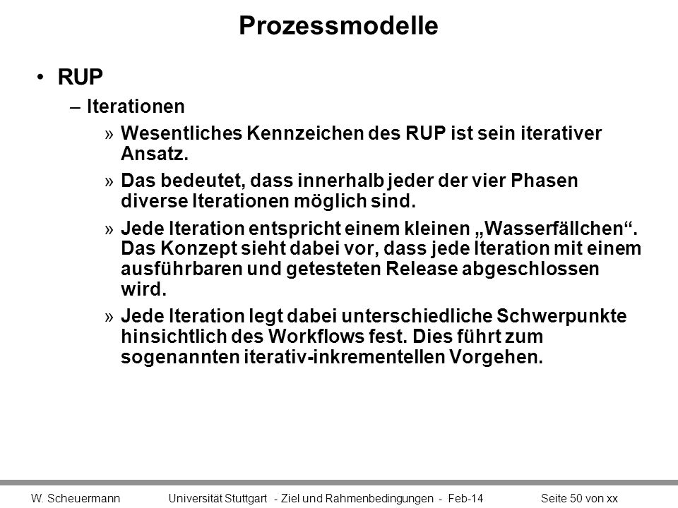 Prozessmodelle RUP Iterationen