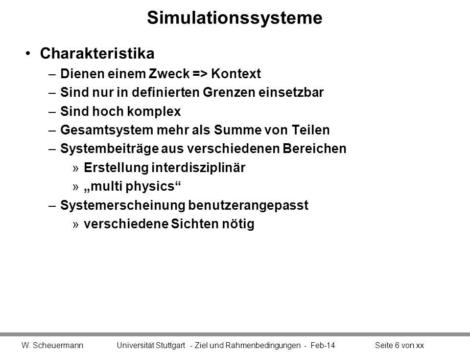 Simulationssysteme Charakteristika Dienen einem Zweck => Kontext