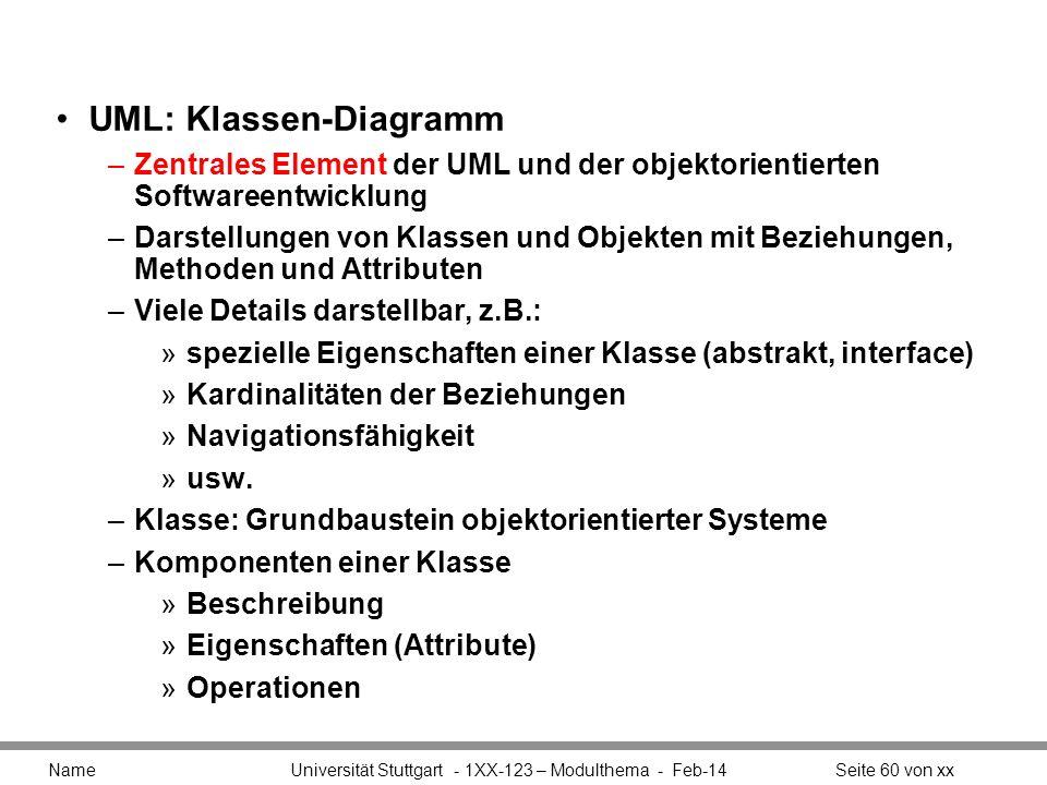 UML: Klassen-Diagramm