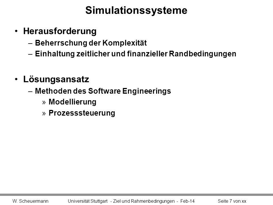 Simulationssysteme Herausforderung Lösungsansatz