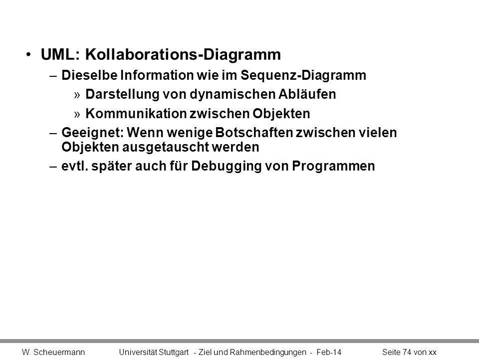 UML: Kollaborations-Diagramm