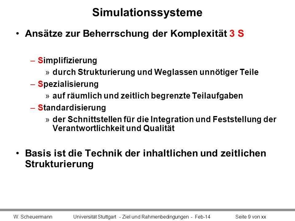 Simulationssysteme Ansätze zur Beherrschung der Komplexität 3 S