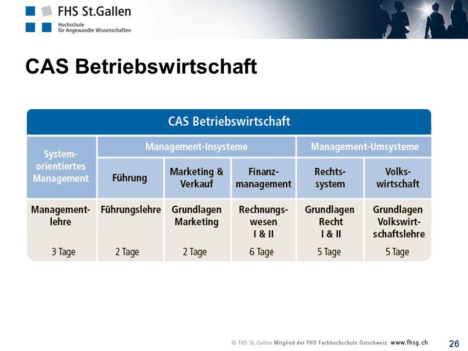 CAS Betriebswirtschaft