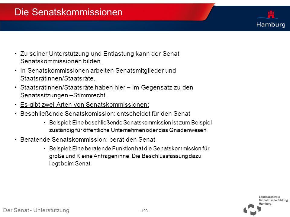 Die Senatskommissionen