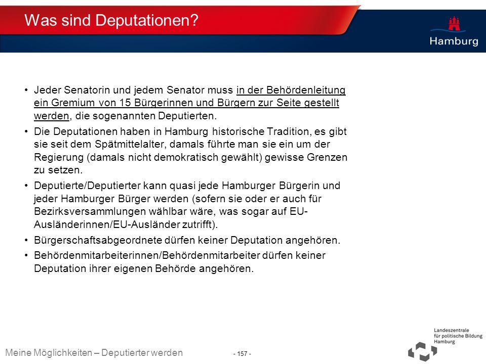 Was sind Deputationen