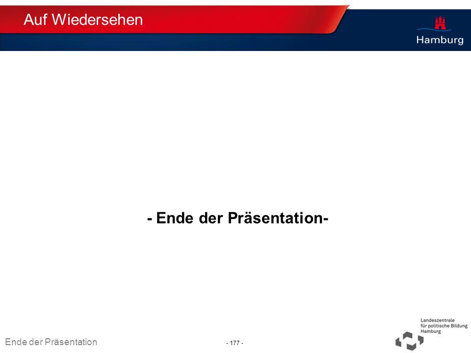 - Ende der Präsentation-