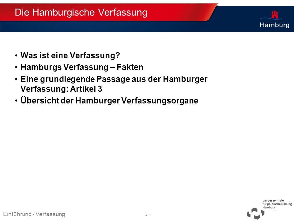 Die Hamburgische Verfassung