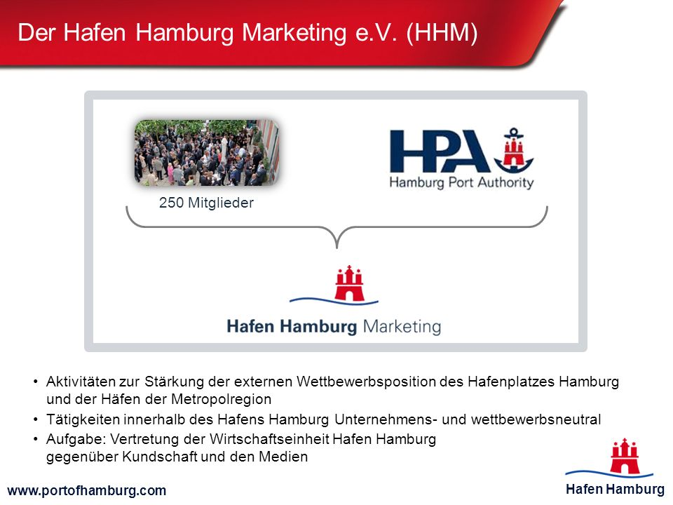 Der Hafen Hamburg Marketing e.V. (HHM)