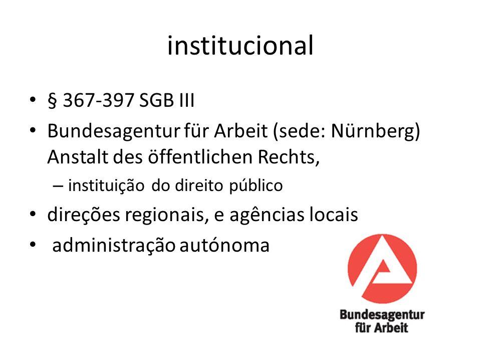 institucional § 367-397 SGB III