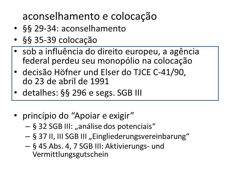 aconselhamento e colocação §§ 29-34: aconselhamento §§ 35-39 colocação