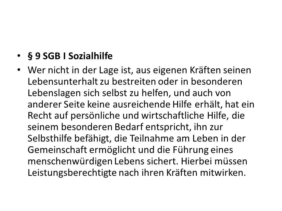 § 9 SGB I Sozialhilfe