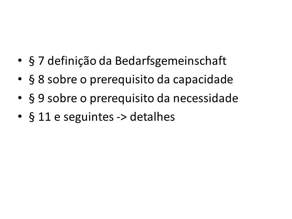 § 7 definição da Bedarfsgemeinschaft