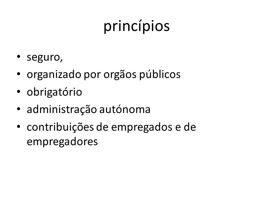 princípios seguro, organizado por orgãos públicos obrigatório