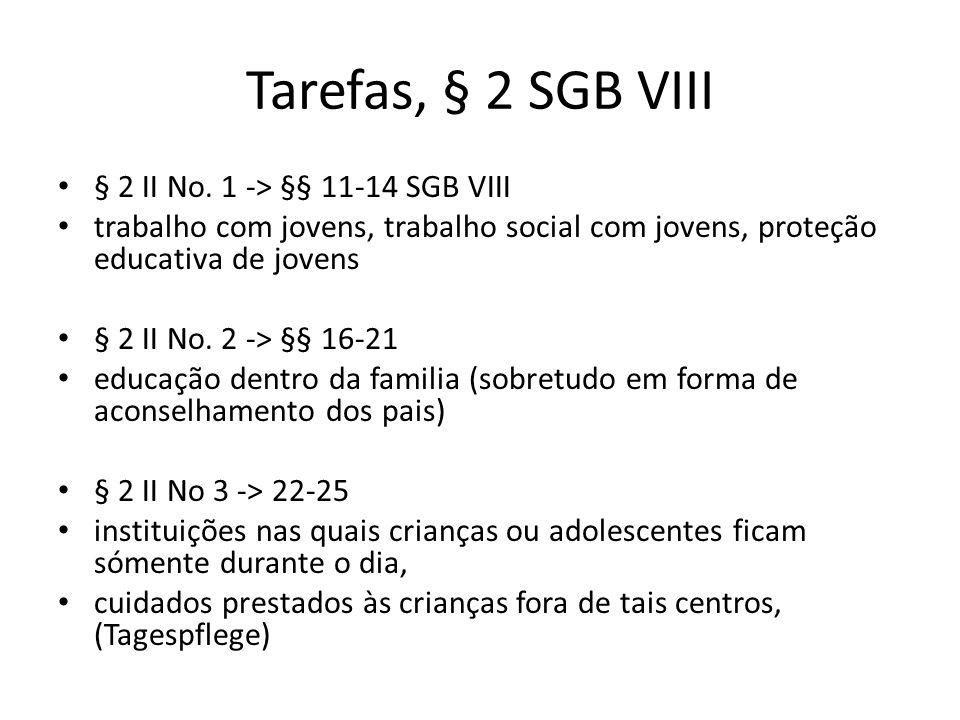 Tarefas, § 2 SGB VIII § 2 II No. 1 -> §§ 11-14 SGB VIII