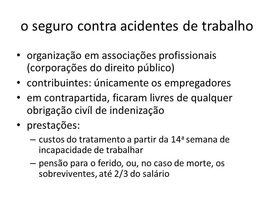 o seguro contra acidentes de trabalho