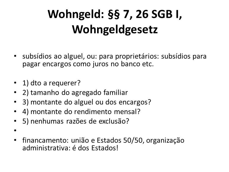 Wohngeld: §§ 7, 26 SGB I, Wohngeldgesetz