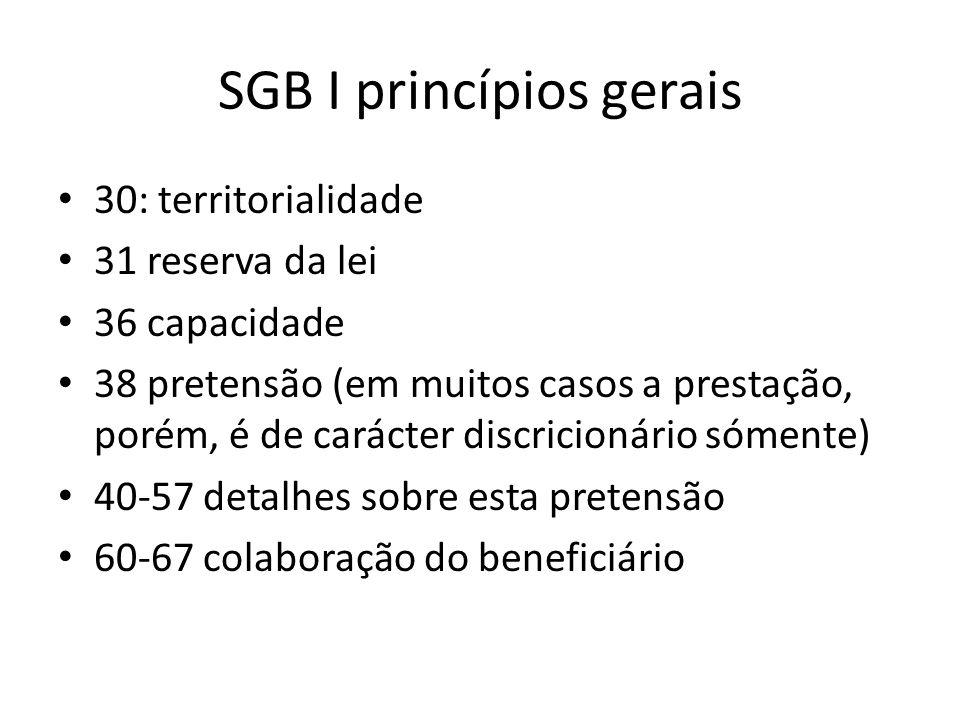 SGB I princípios gerais