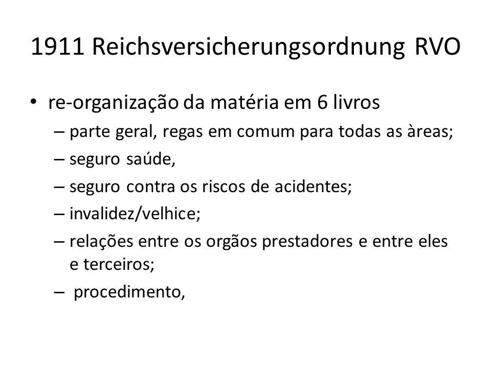 1911 Reichsversicherungsordnung RVO