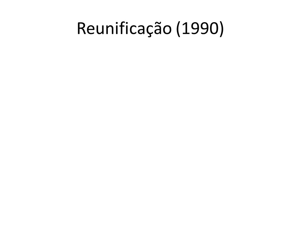 Reunificação (1990)