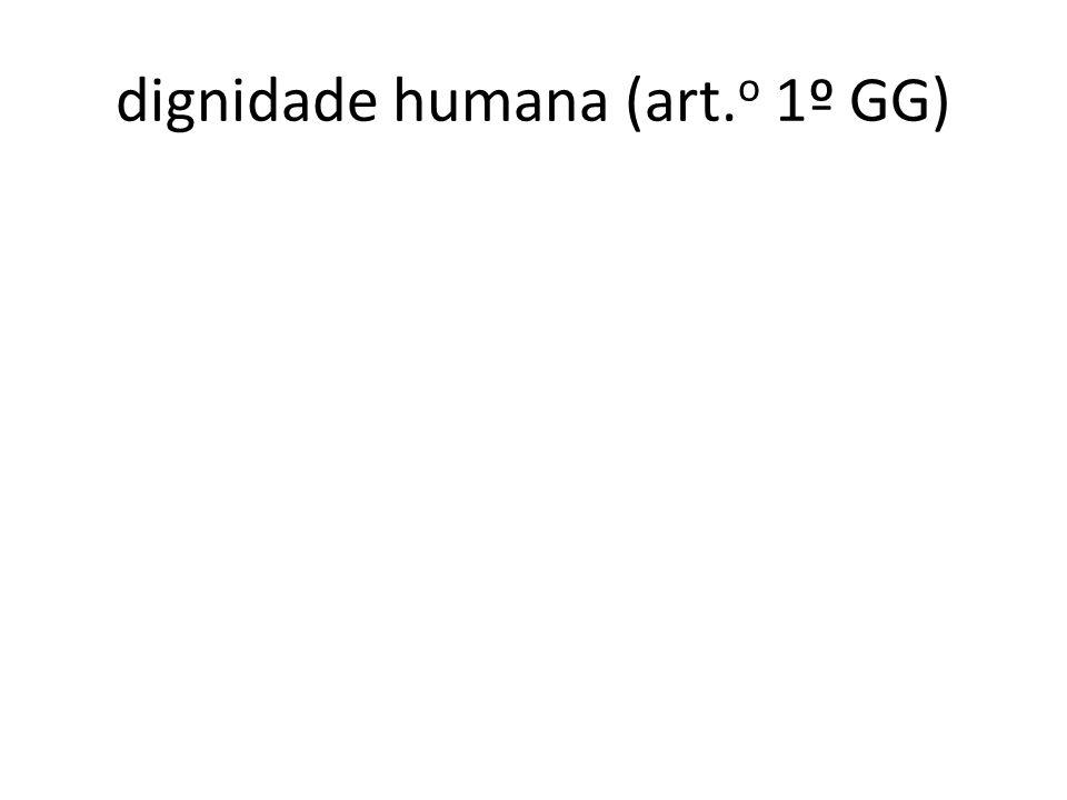 dignidade humana (art.o 1º GG)