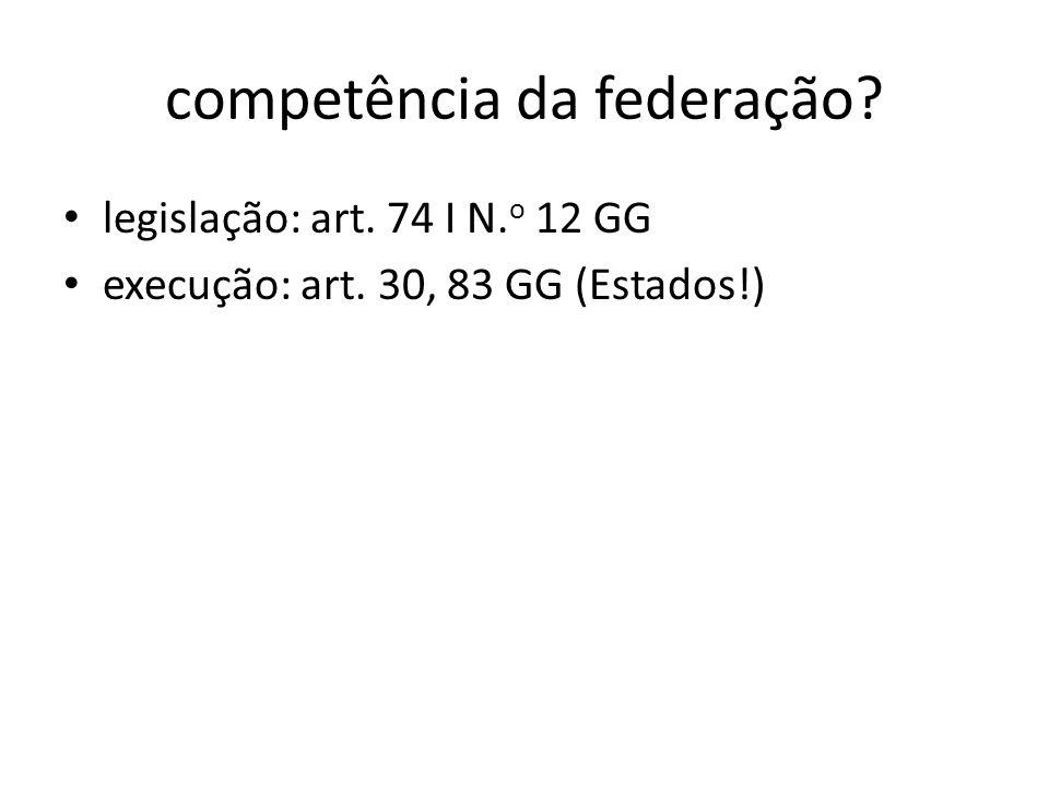 competência da federação