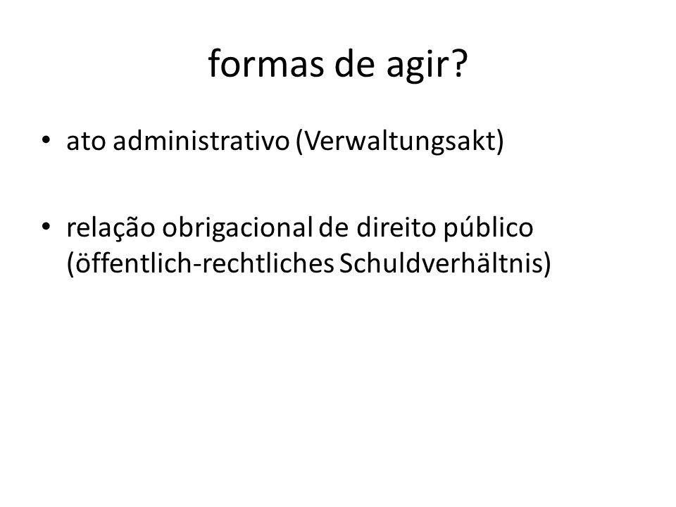 formas de agir ato administrativo (Verwaltungsakt)