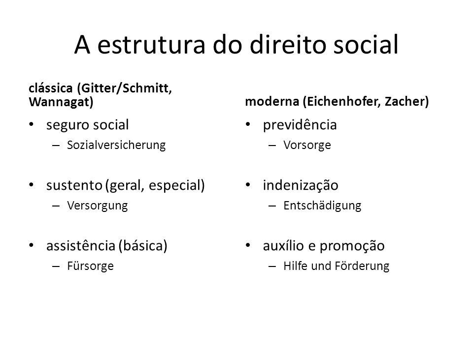 A estrutura do direito social