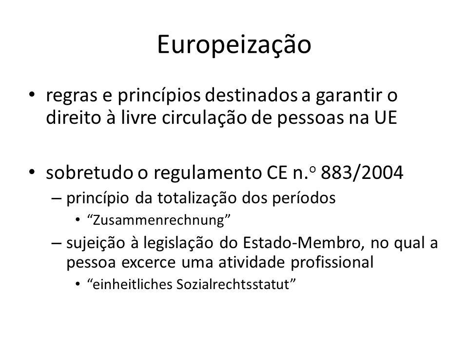 Europeização regras e princípios destinados a garantir o direito à livre circulação de pessoas na UE.