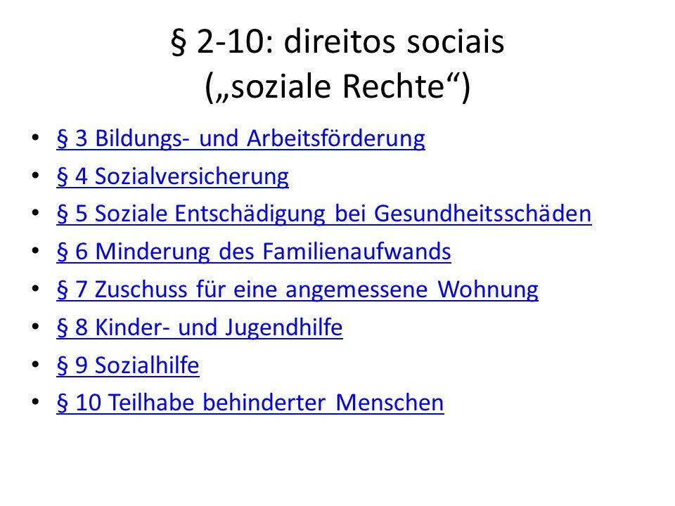 "§ 2-10: direitos sociais (""soziale Rechte )"