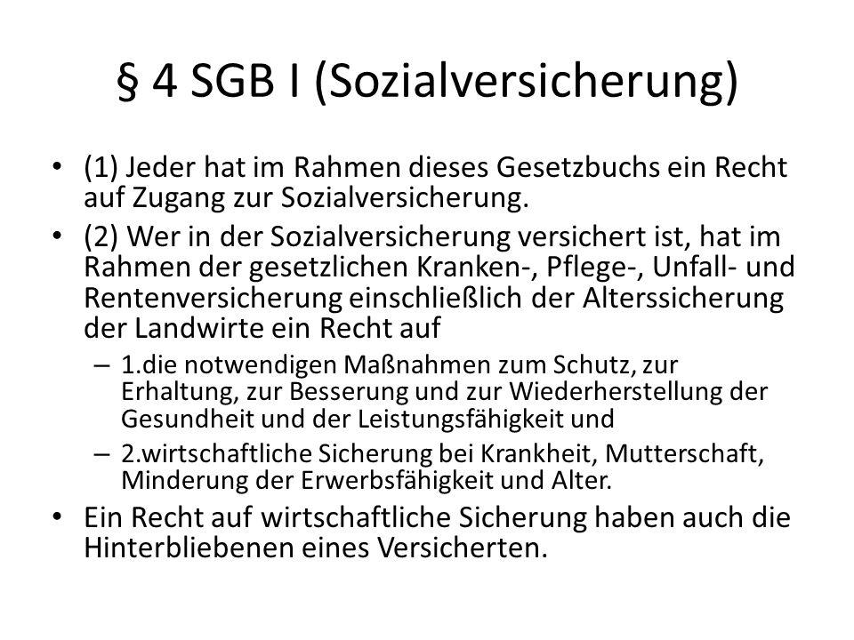 § 4 SGB I (Sozialversicherung)