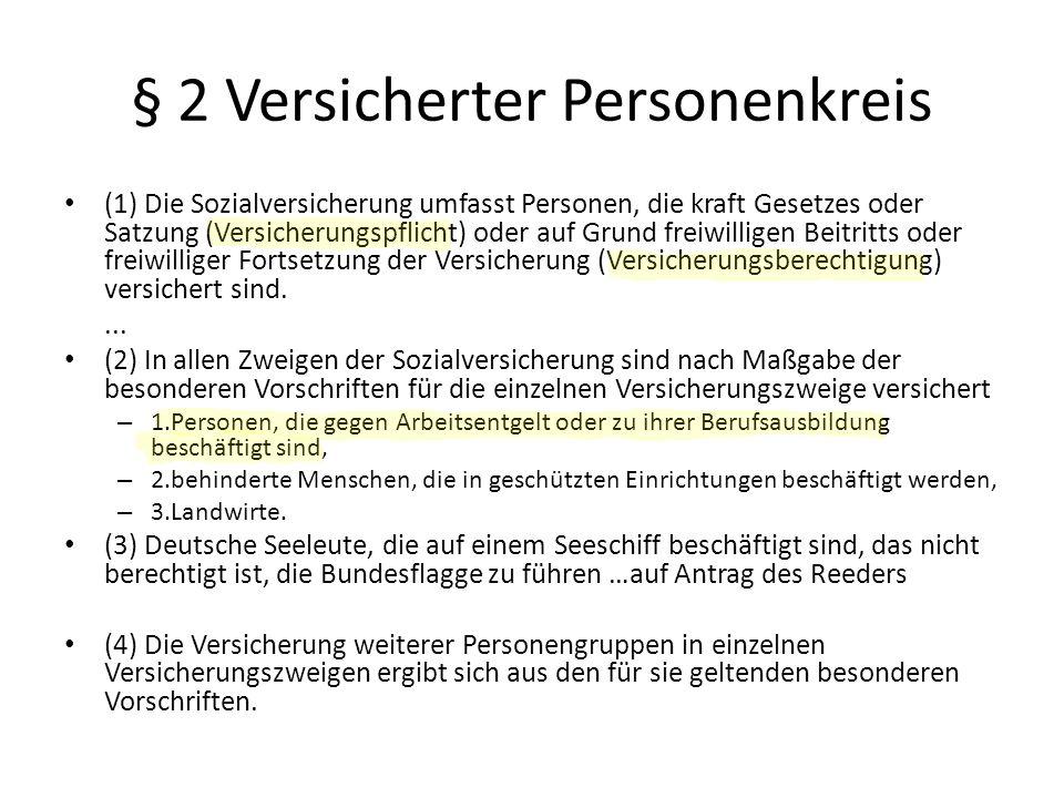 § 2 Versicherter Personenkreis