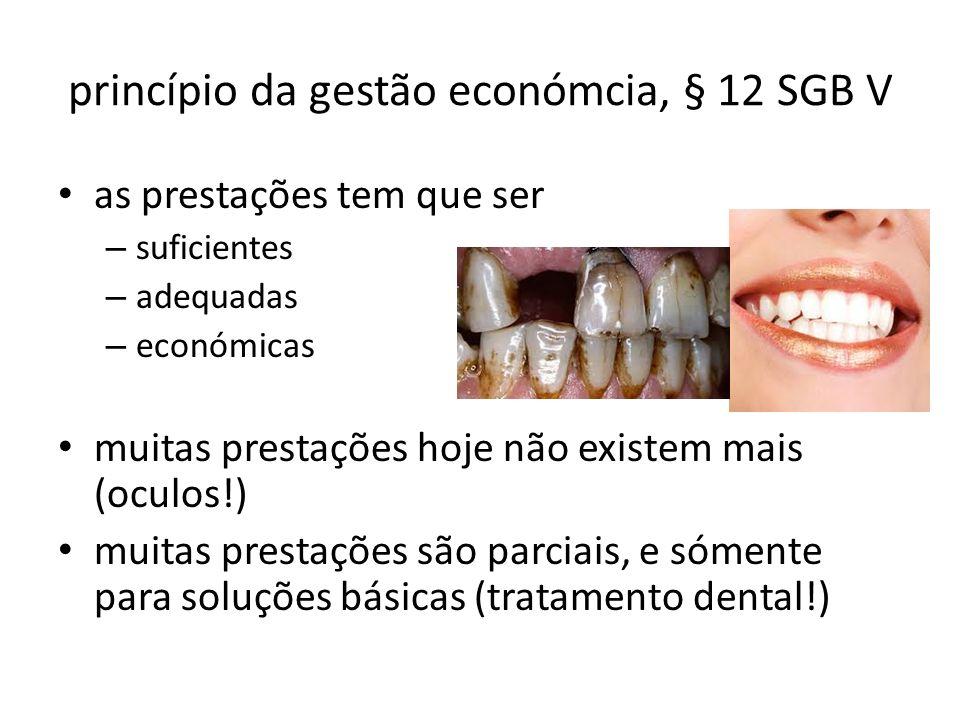 princípio da gestão económcia, § 12 SGB V