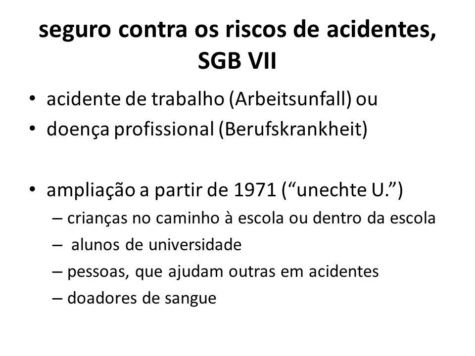 seguro contra os riscos de acidentes, SGB VII