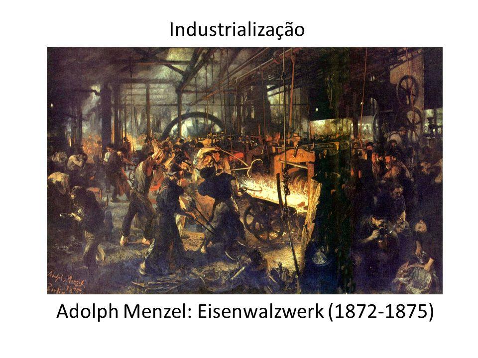 Industrialização Adolph Menzel: Eisenwalzwerk (1872-1875)