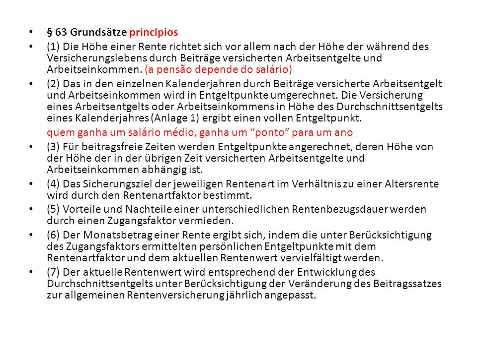 § 63 Grundsätze princípios