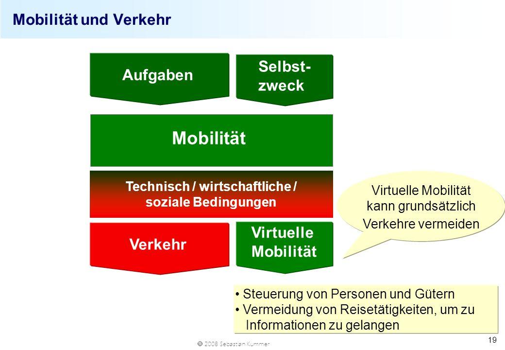 Technisch / wirtschaftliche / soziale Bedingungen