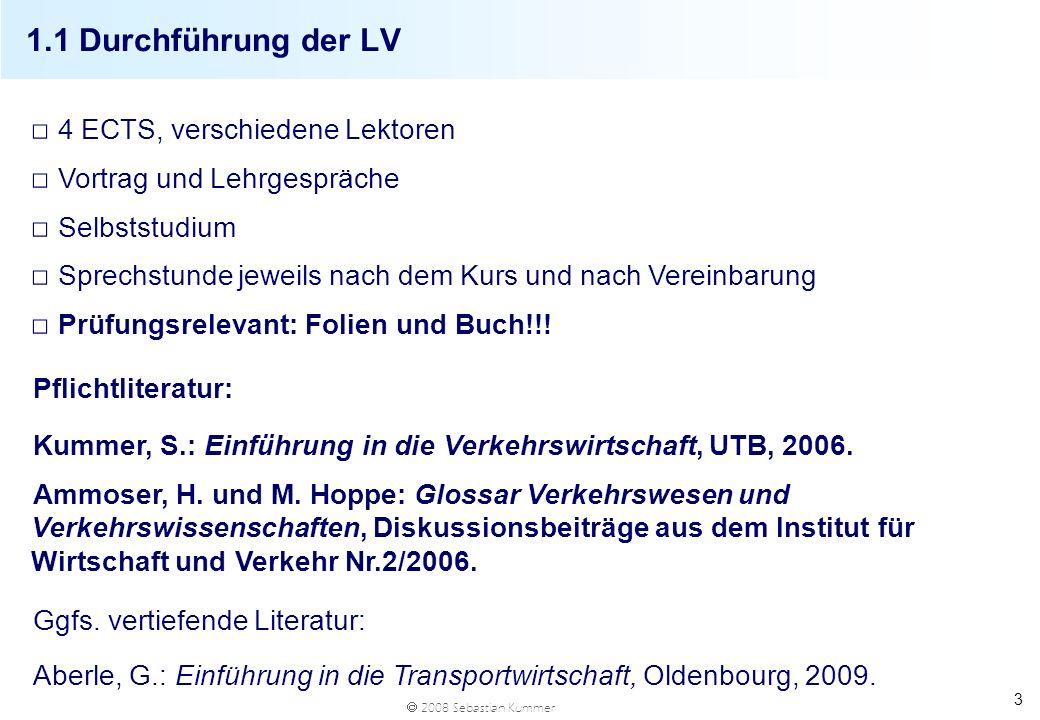 1.1 Durchführung der LV 4 ECTS, verschiedene Lektoren