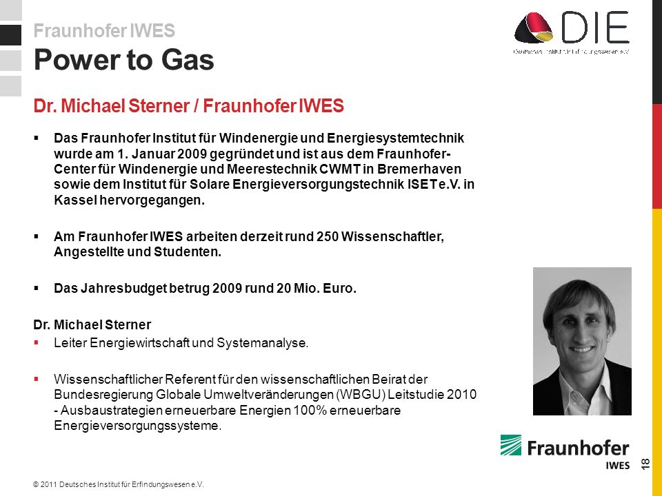 Dr. Michael Sterner / Fraunhofer IWES
