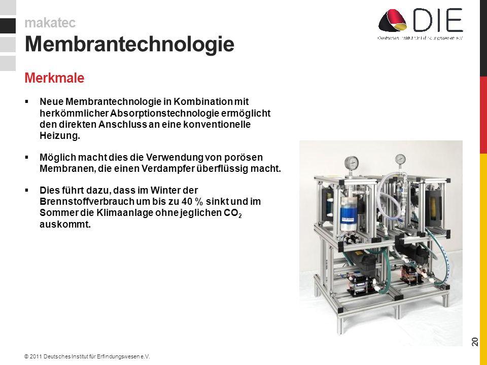 Membrantechnologie makatec Merkmale