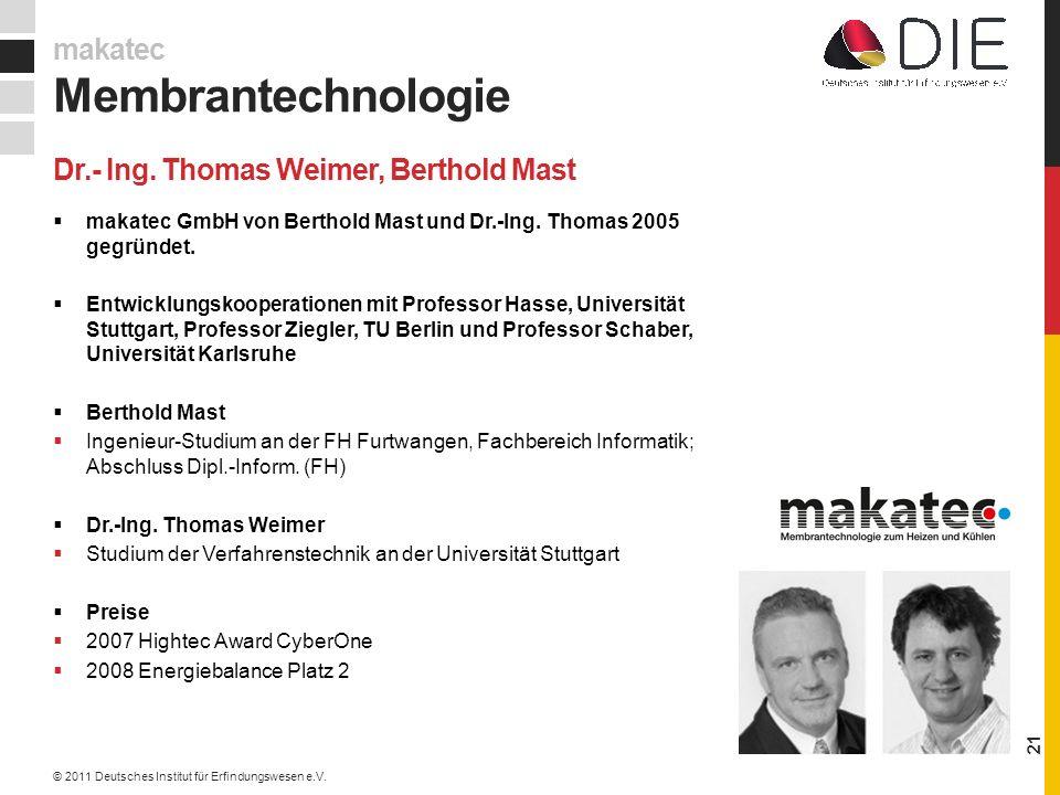 Dr.- Ing. Thomas Weimer, Berthold Mast