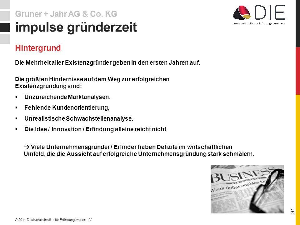 impulse gründerzeit Gruner + Jahr AG & Co. KG Hintergrund