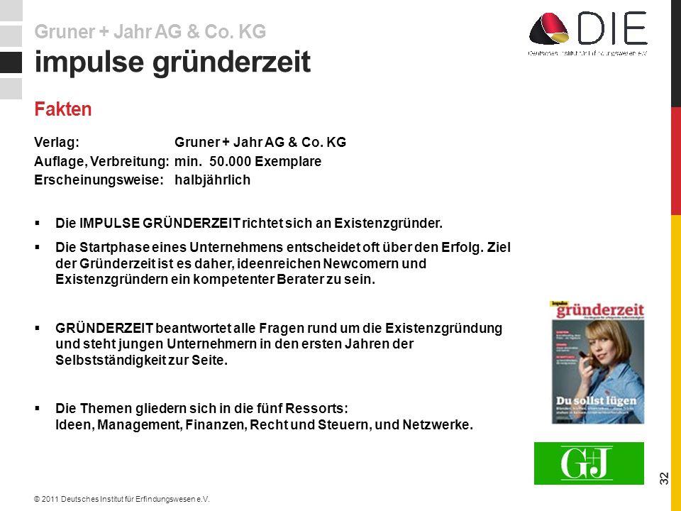 impulse gründerzeit Gruner + Jahr AG & Co. KG Fakten