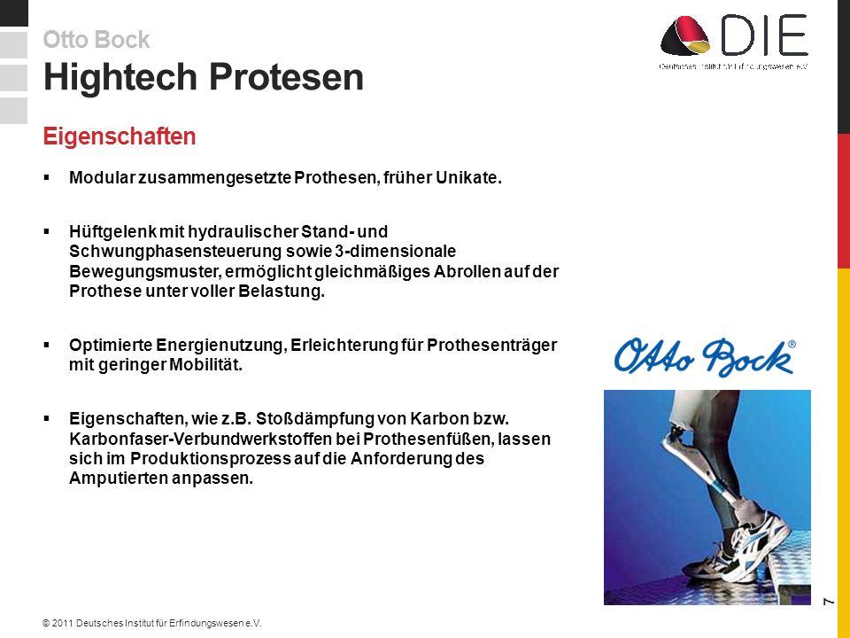 Hightech Protesen Otto Bock Eigenschaften