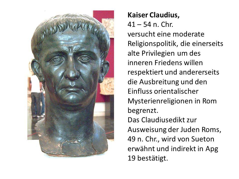 Kaiser Claudius,41 – 54 n. Chr.