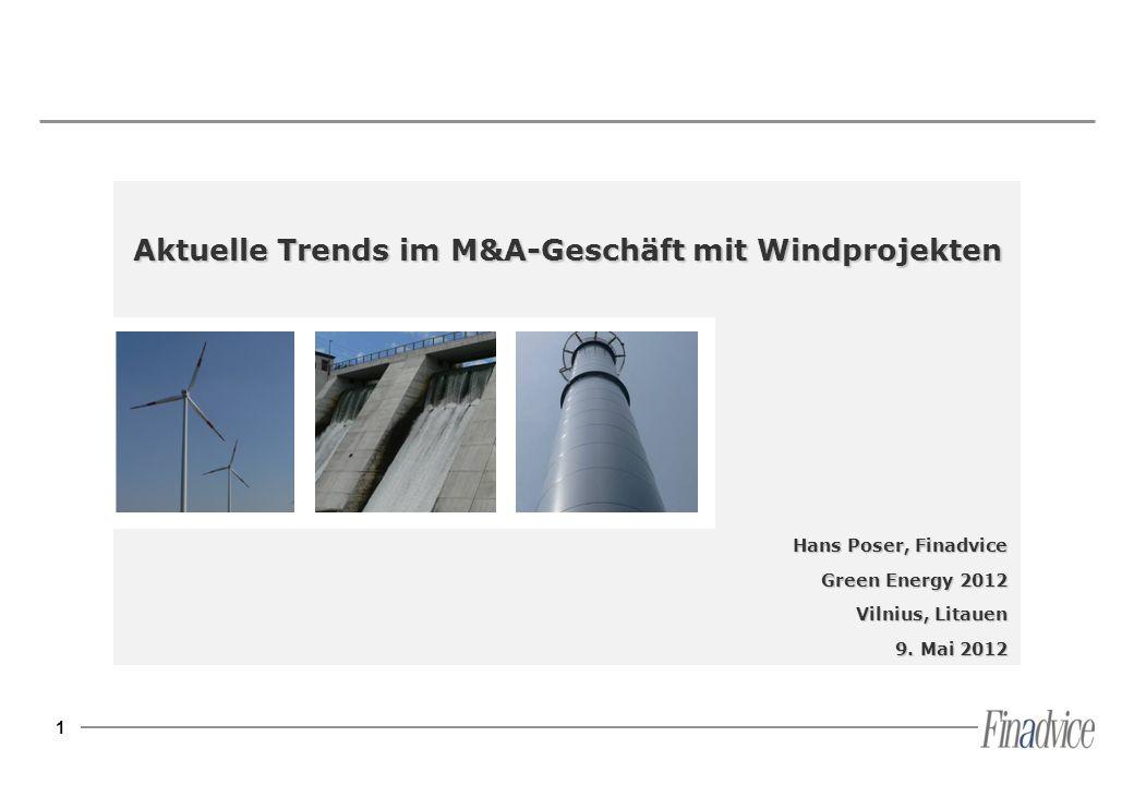 Aktuelle Trends im M&A-Geschäft mit Windprojekten