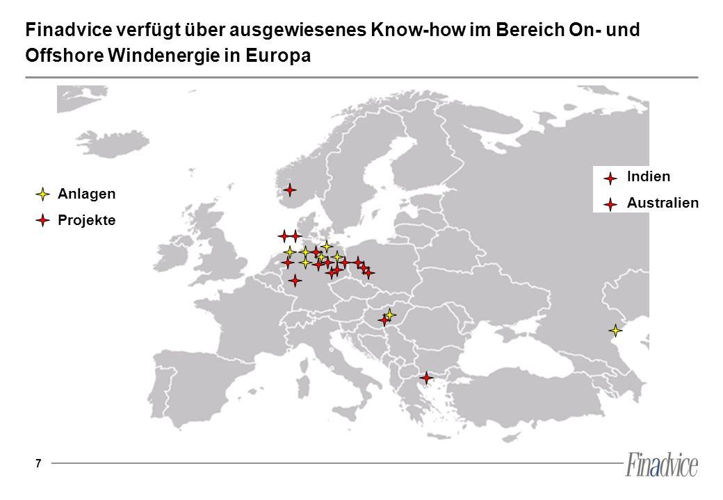 Finadvice verfügt über ausgewiesenes Know-how im Bereich On- und Offshore Windenergie in Europa