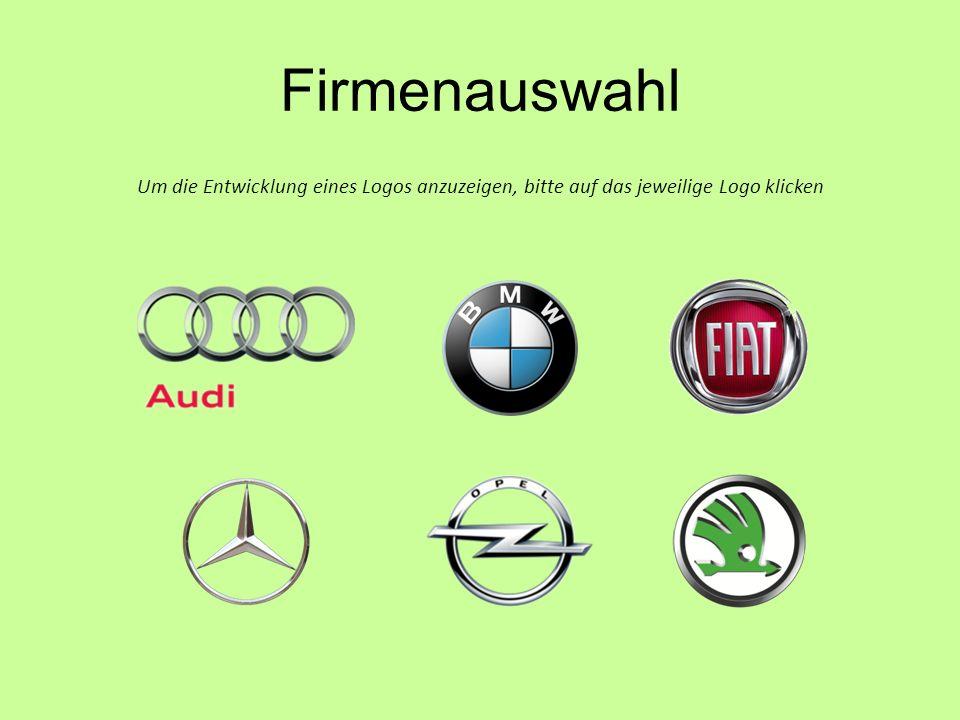 Firmenauswahl Um die Entwicklung eines Logos anzuzeigen, bitte auf das jeweilige Logo klicken