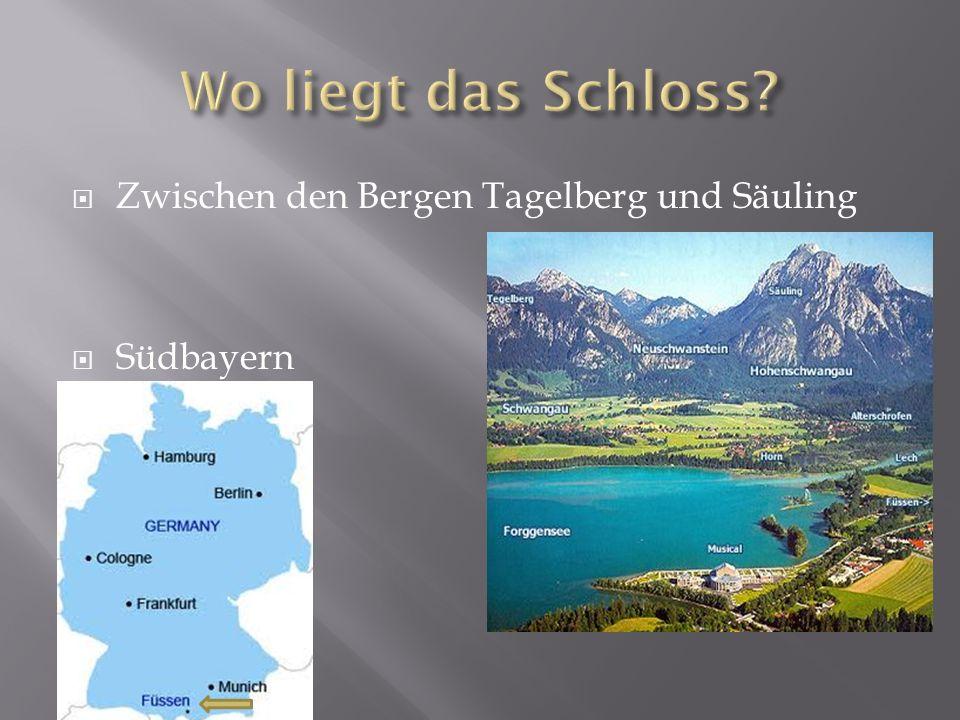 Wo liegt das Schloss Zwischen den Bergen Tagelberg und Säuling